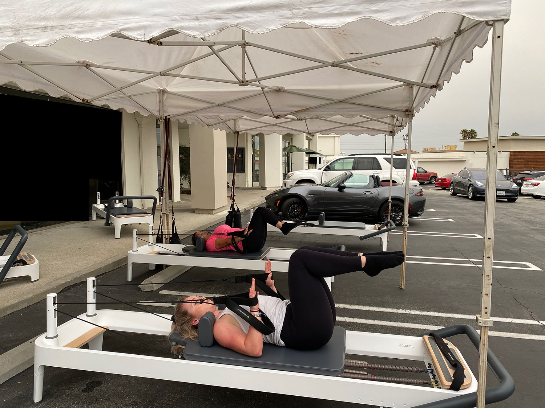 women doing pilates outside of Pilates Effects in Torrance