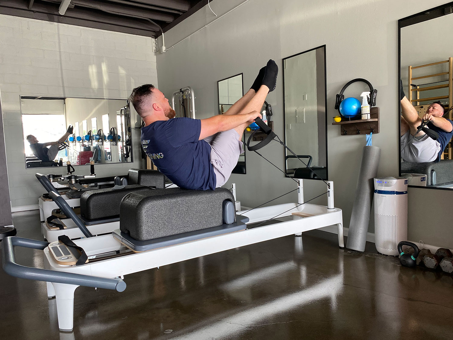 Man at Pilates Effects